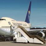 飛行機搭乗用エスカレーター